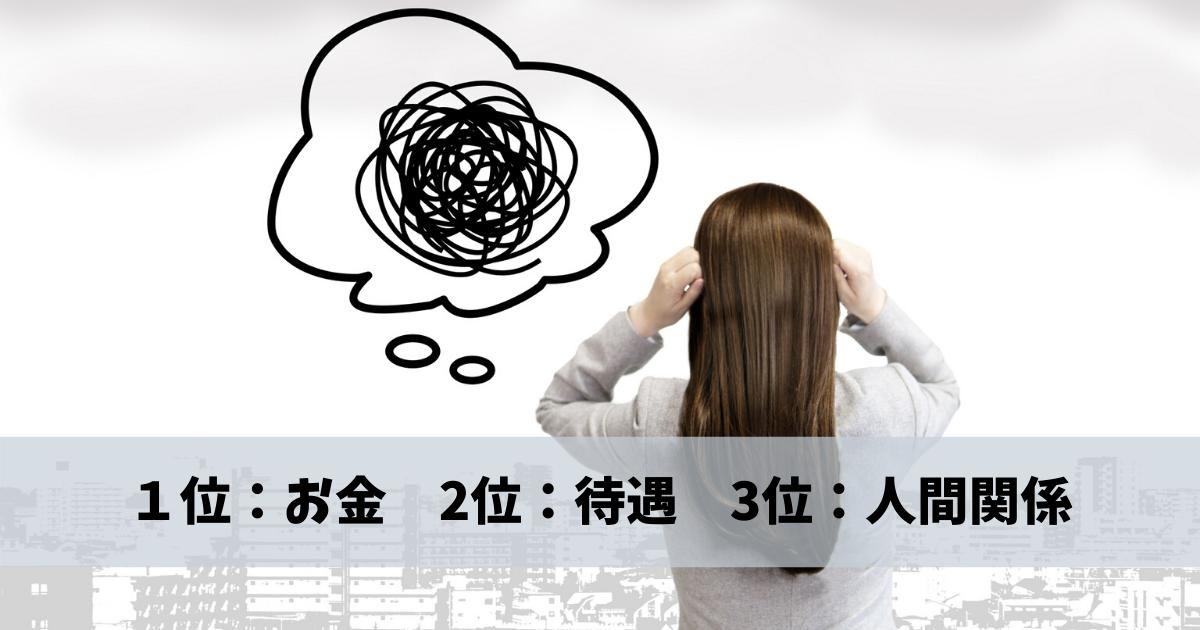 アルバイト生活のお悩みBest3