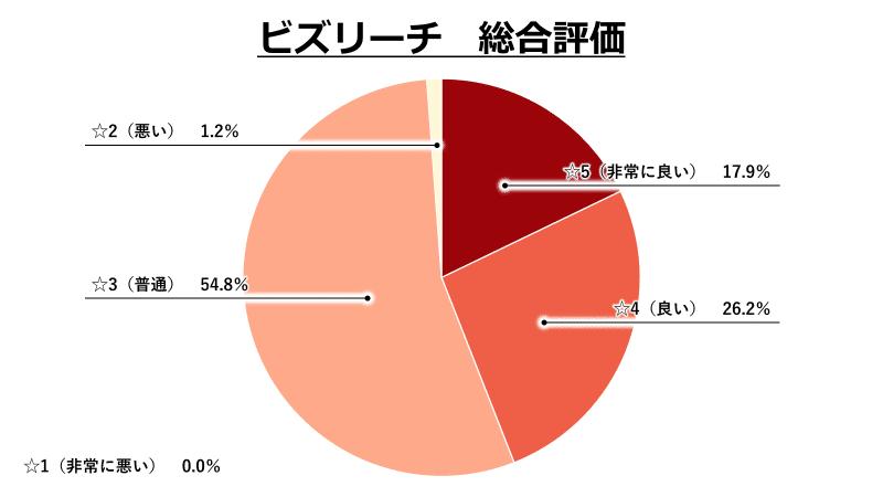 ビズリーチ総合評価グラフ
